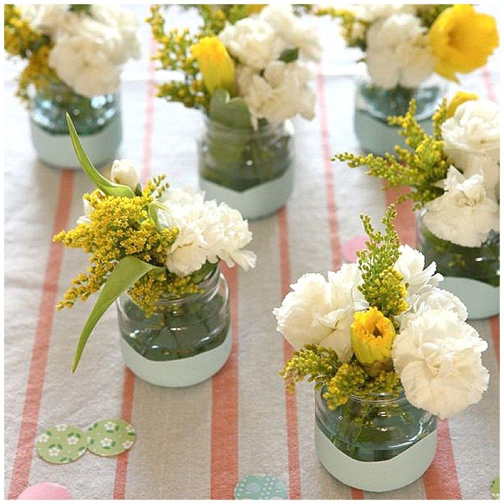 Diy Flowers Jars For Your Wedding