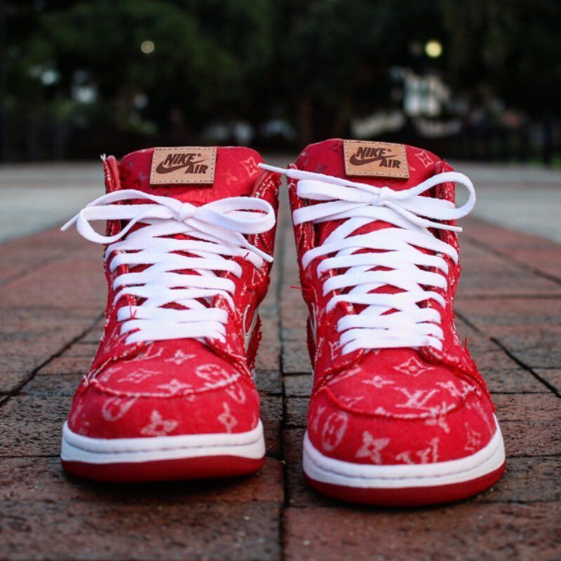 d9694d427f6 Supreme x Louis Vuitton Air Jordan 1 | Shoes | Shoes, High top ...