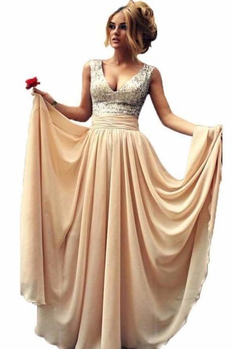 ff5dcb01e23 Woman Vintage Silver Sequin Prom Dress 2016 Long V Neck Formal Evening Gowns  Dresses Plus Size Champagne Black Vestidos De Noche Bridesmaid Dresses