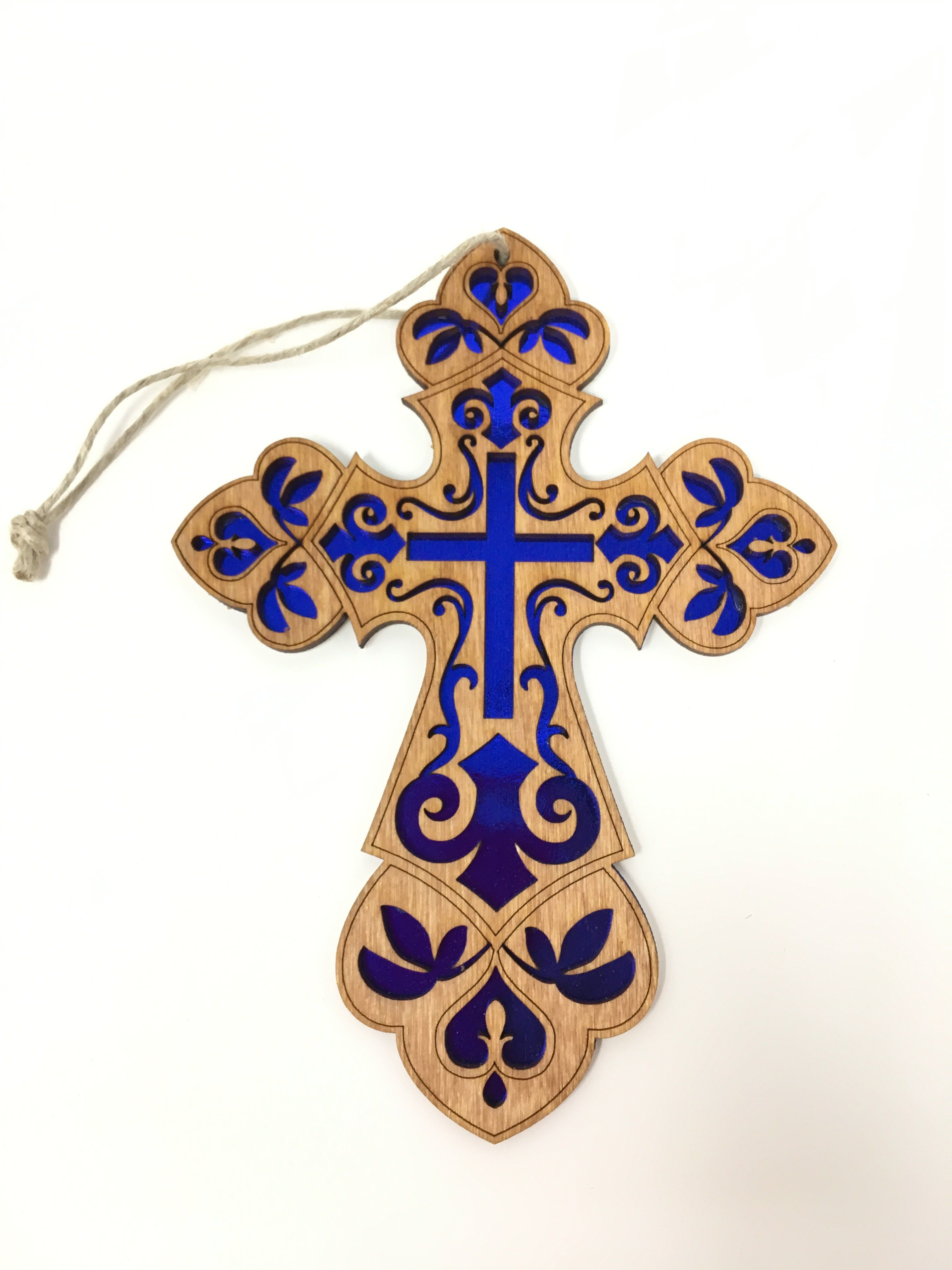 C. Ornate Cross with Paper Scroll saw patterns, Scroll