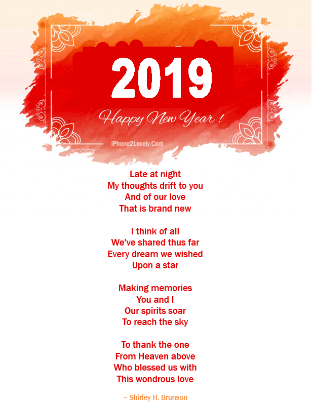 love poem new year 2019