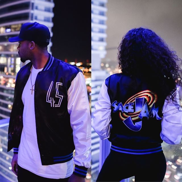 ba94648a50878a Our guys  sneakgallery just restocked their Space Jam Pullover and Bomber  Jacket for the first and only time! Extremely limited so don t sleep.