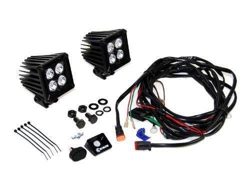 KC HiLites 310 KC Cube Series LED Spot Light; 3 in. Square