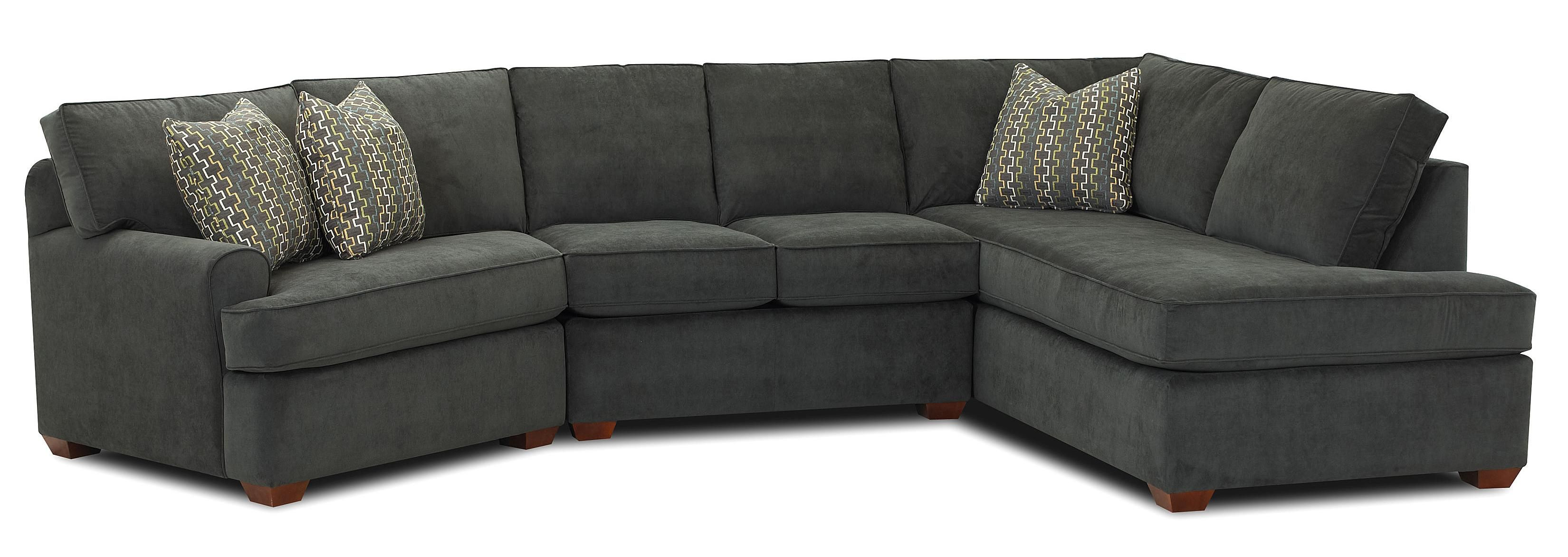 Hybrid Sectional Sofa with Right Facing Sofa Chaise by Klaussner