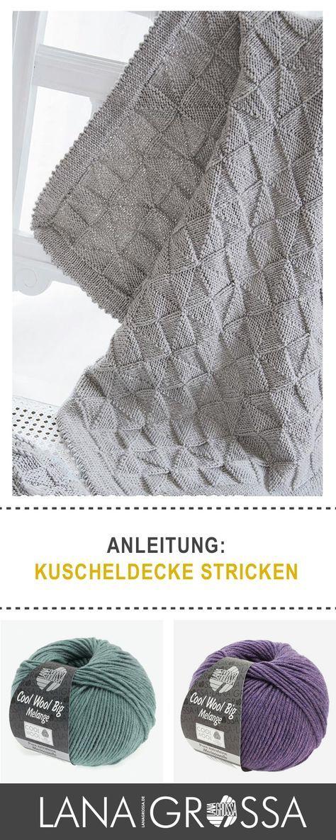 Kostenlose Strickanleitung Kuscheldecke stricken / free knit pattern ...