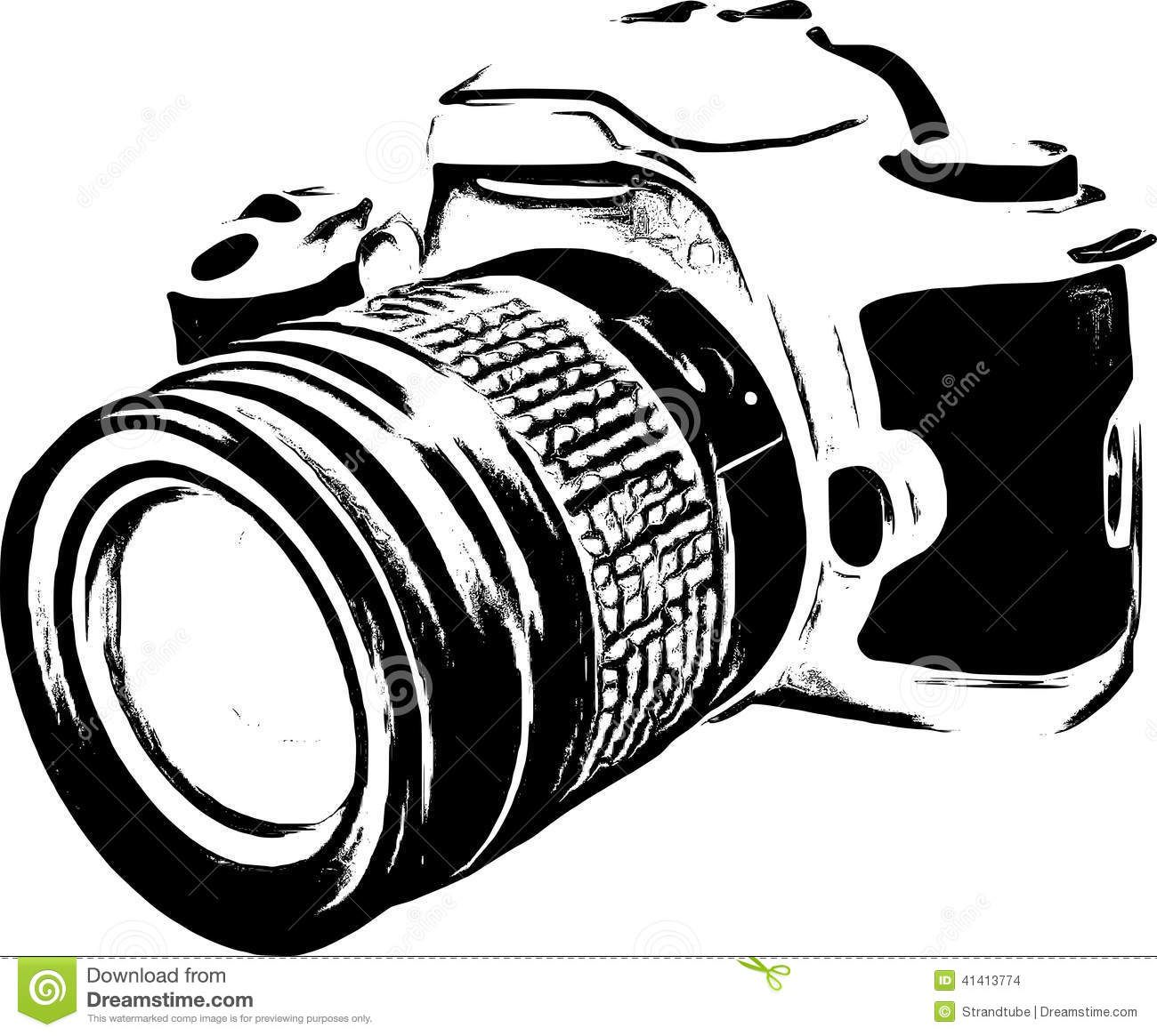 Vintage Camera Clipart Black And White
