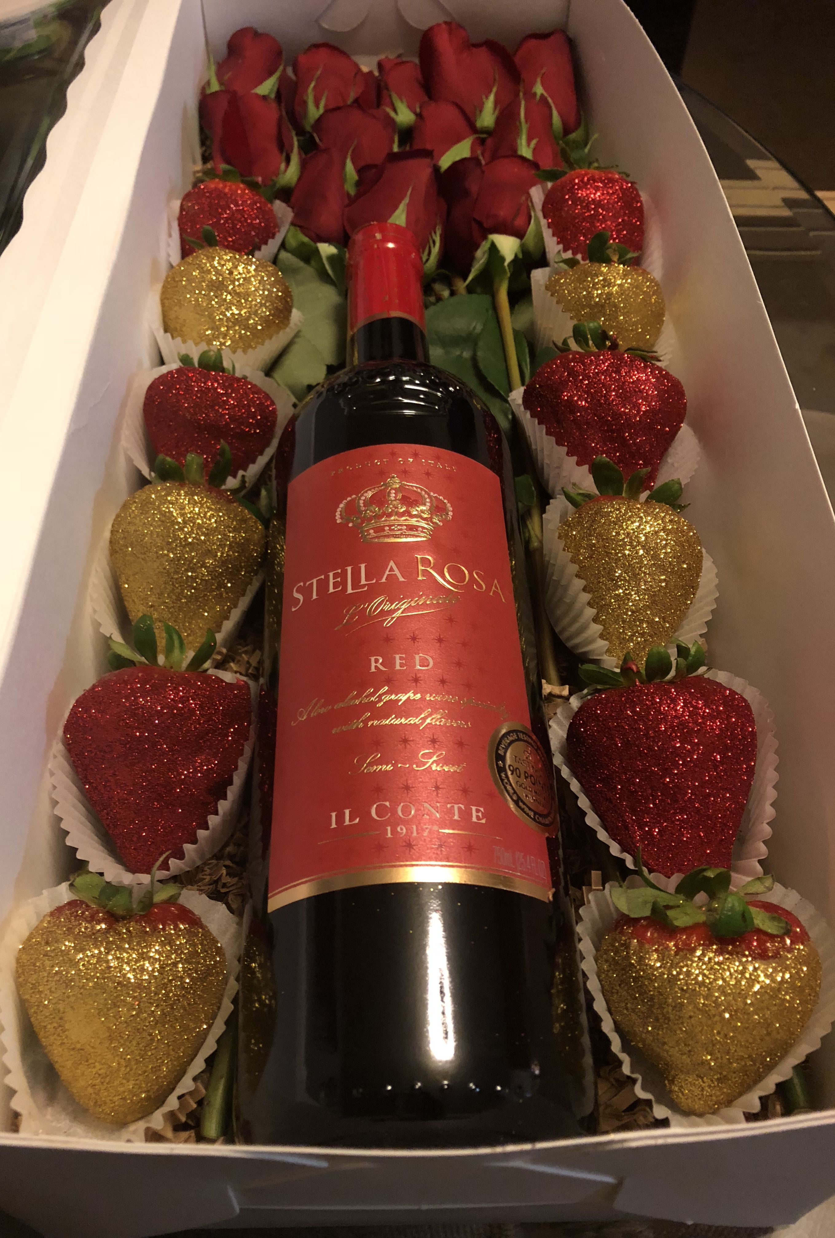 Bae Box Strawberry Gifts Chocolate Covered Strawberries Bouquet Valentines Wine