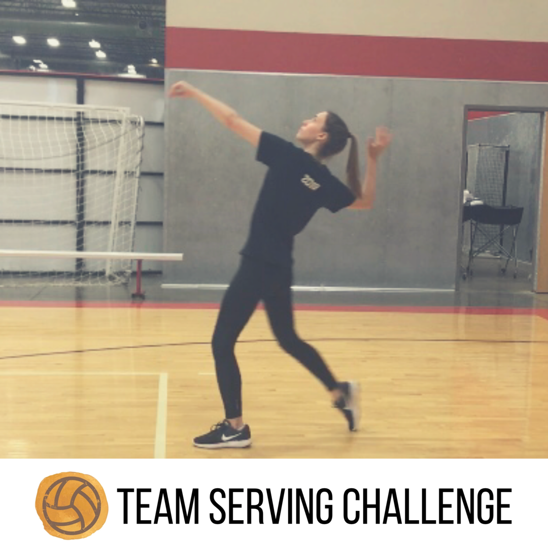 Team Serving Challenge Volleyball Training Volleyball Drills Basketball Workouts