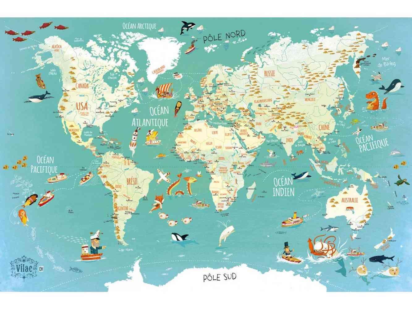 Carte Du Monde Carte Du Monde Monde Fantastique Et Fantastique