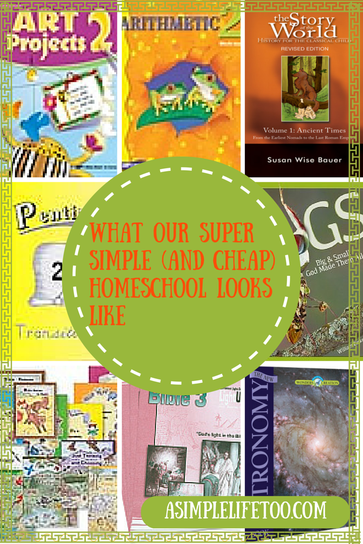 What Our Super Simple (And Cheap) Homeschool Looks Like