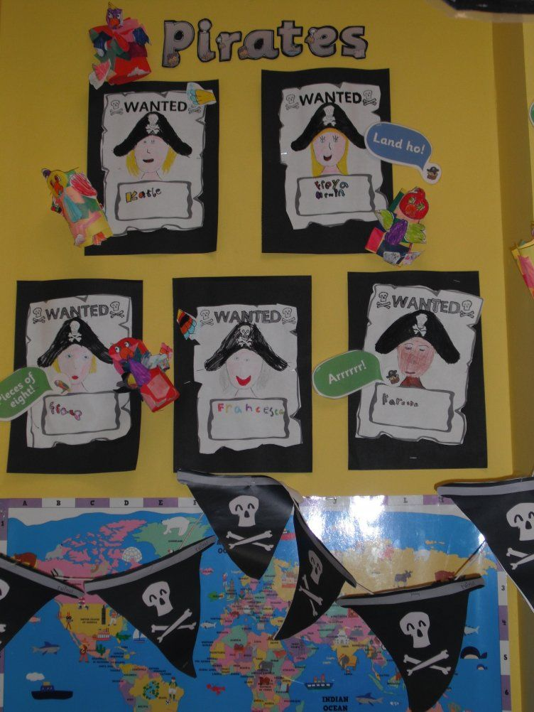 Classroom Ideas Ks1 ~ Pirates wanted poster display classroom class
