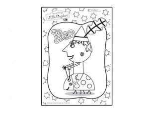 Print off this Ben colouring in picture from Ben & Holly s