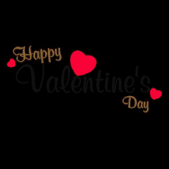 Happy Valentine S Day Awesome Inscription Transparent Image Instant Download Upcrafts Design In 2021 Happy Words Happy Valentines Day Images Valentines Day Border