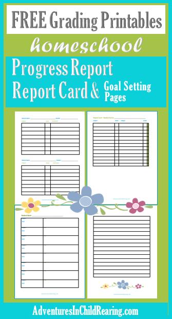 Homeschooling Adventurez Free Report Cards Progress Report