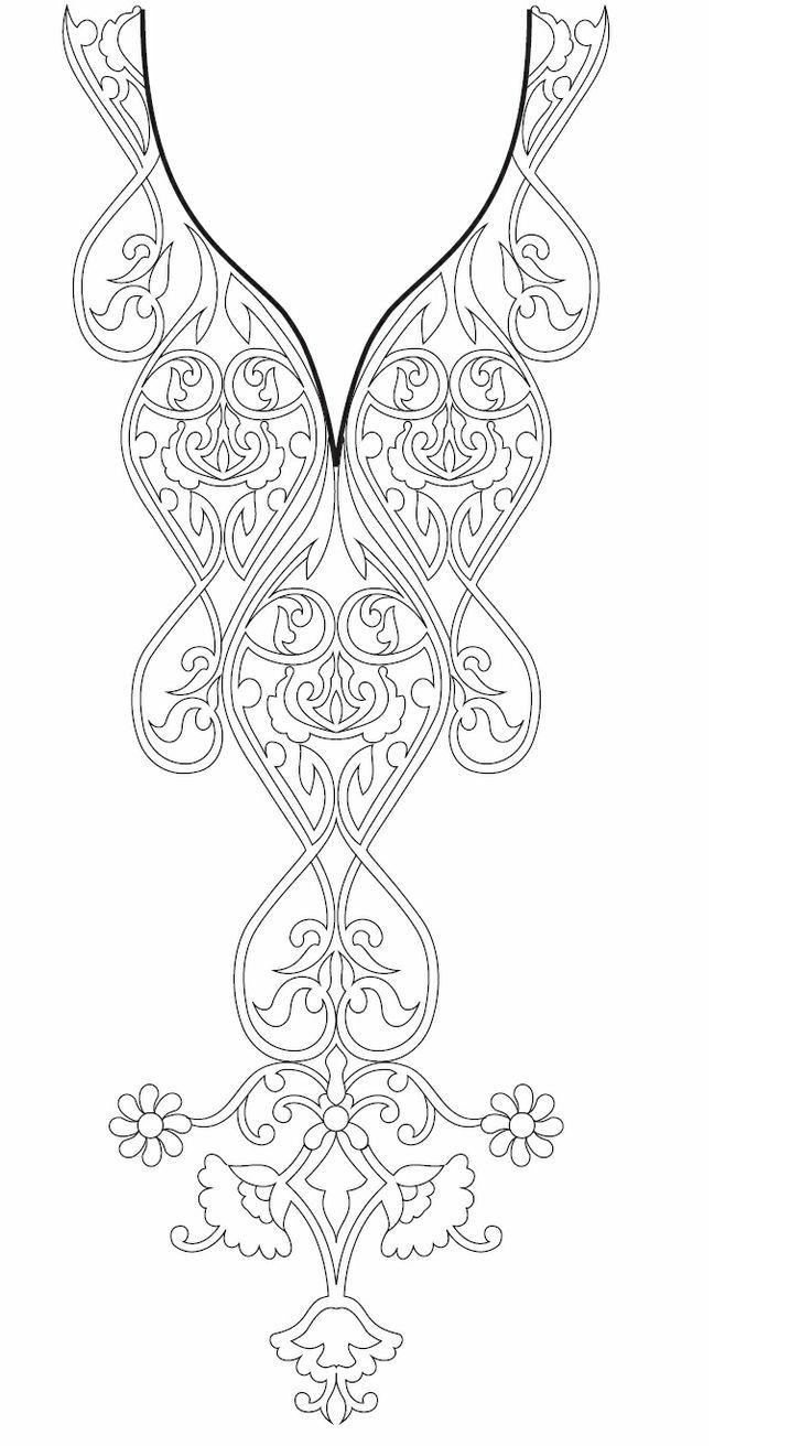 Hand embroidery designs for kurtis neck | рисунки | Pinterest ...