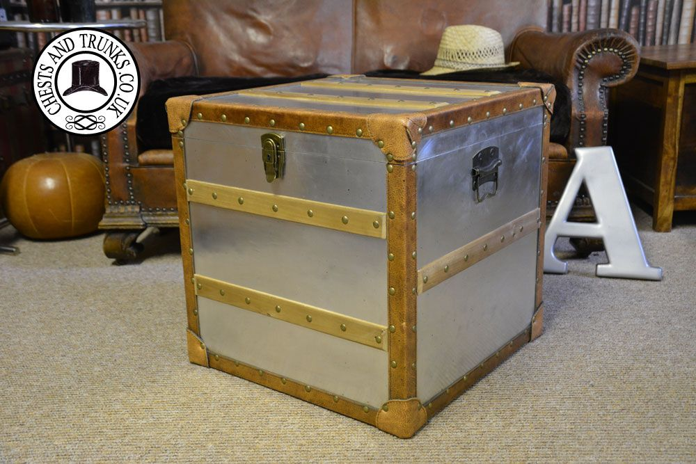 Merveilleux Liberty Metal U0026 Leather Storage Trunk ⋆ Chests U0026 Trunks