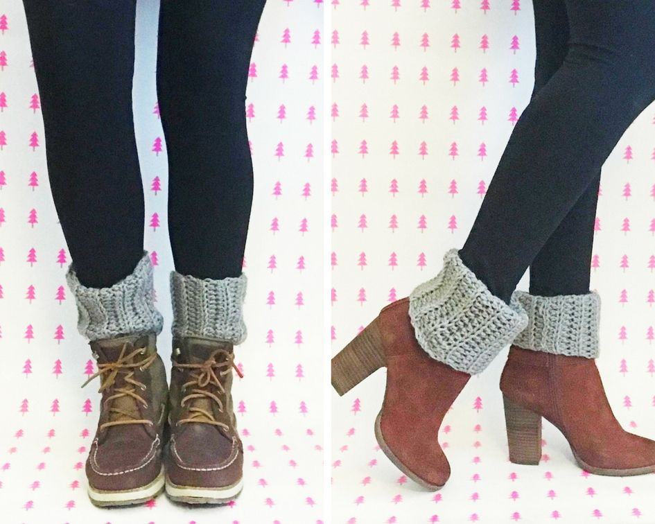 FREE crochet boot cuff pattern | These cozy ribbed crochet boot ...