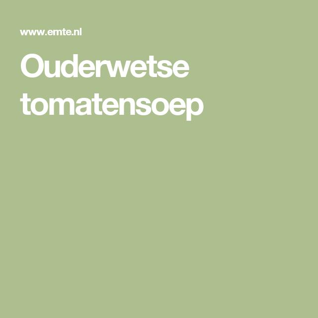 Ouderwetse tomatensoep