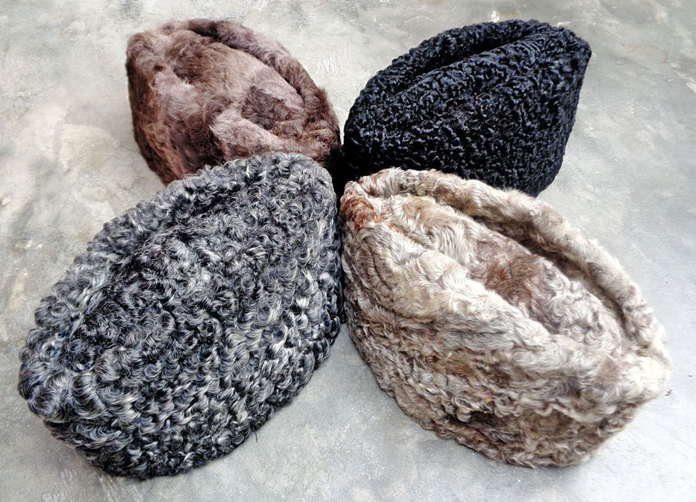 afad3da1350 100% Original Karakul Persian Lamb Kufi Fur Sheep Russian Bucket Hat Jinnah  Cap  Handmade  Boat