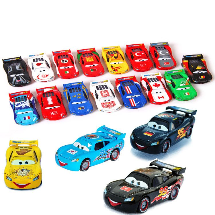 Click To Buy 19 Pcs Set Limited Edition Pixar Cars Diecast No 95 19 Countries Mcqueen Metal Toy Car 1 55 Loose Brand New Toy Car Disney Cars Metal Toys