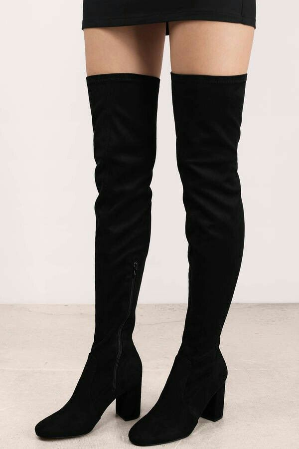 4255240ff11 ANE SUEDE KNEE HIGH BOOTS BLACK | TOBI | Boots, Knee high boots, Shoes