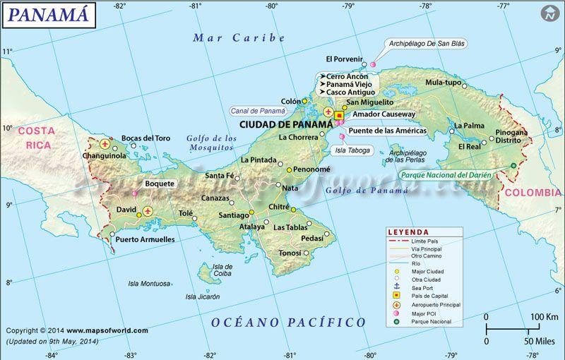 Mapa De Panama Mapa De Paises Pinterest South America Map
