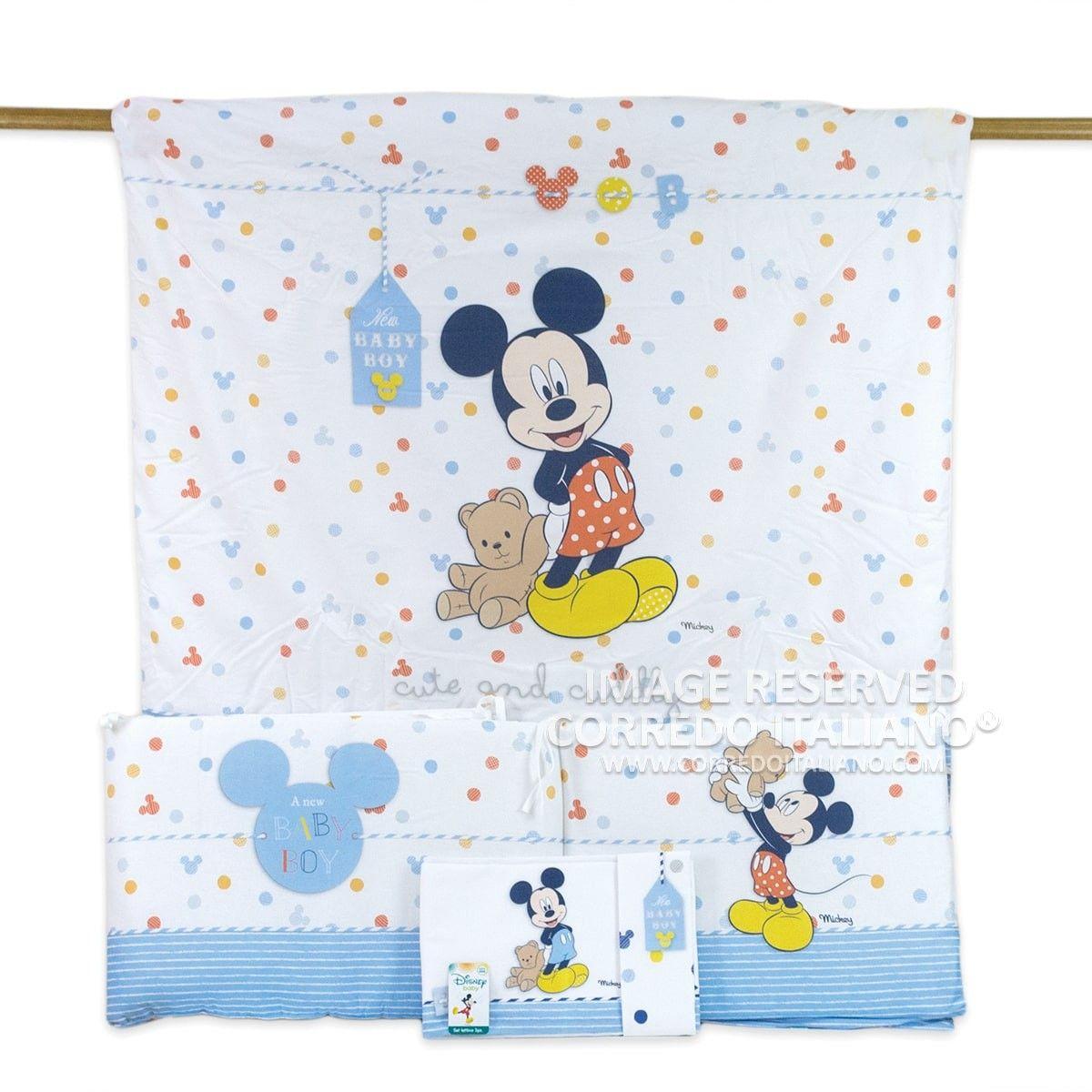 Coordinato Copripiumino 4 Pezzi Della Collezione Disney Baby Dedicato Al Fantastico Topolino Topolino Disney Copripiumino