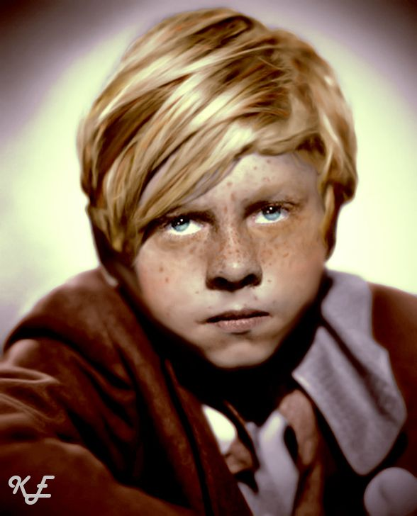 Mickey Rooney My Cousin Yep Strawberry Blonde Hair Freckles
