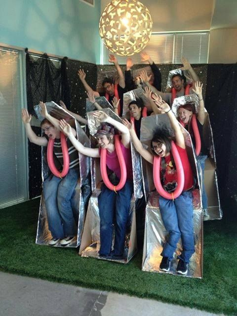 Team Halloween Costume Roller Coaster Ride Rollercoaster party - team halloween costume ideas