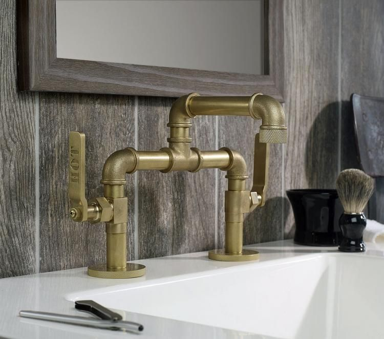 This Bathroom Faucet Looks Like An Old Industrial Pipe | Faucet ...