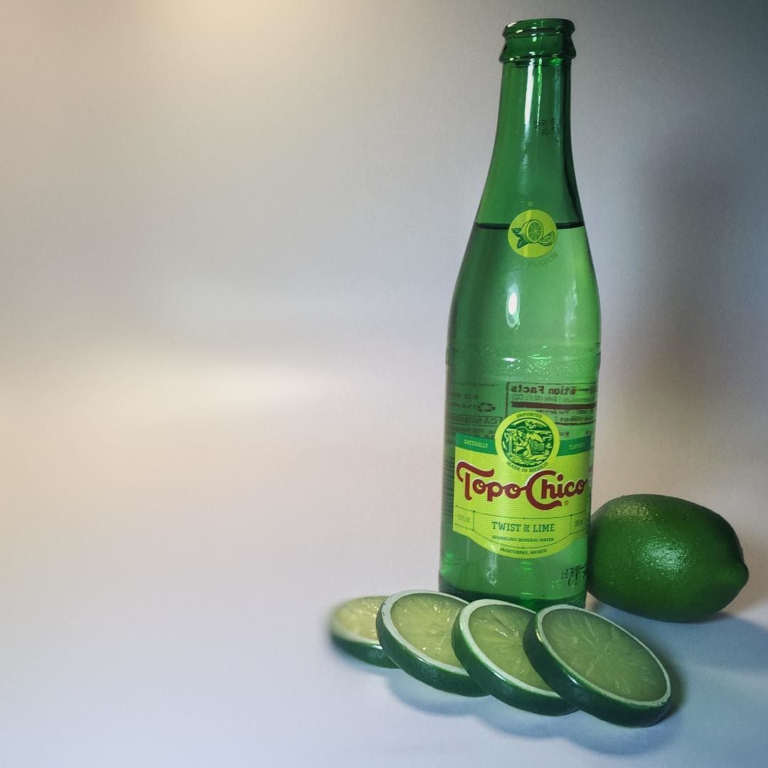 Put a twist in your day today. #TopoChico #Lime