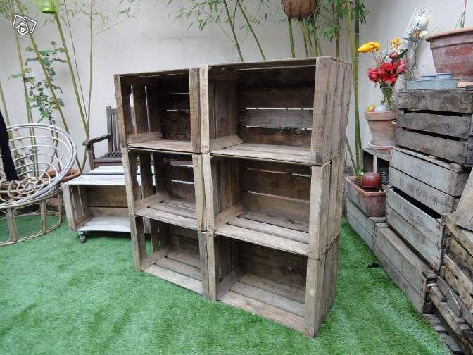 caisse pomme en bois ancienne en tr s bon tat d coration charente maritime. Black Bedroom Furniture Sets. Home Design Ideas