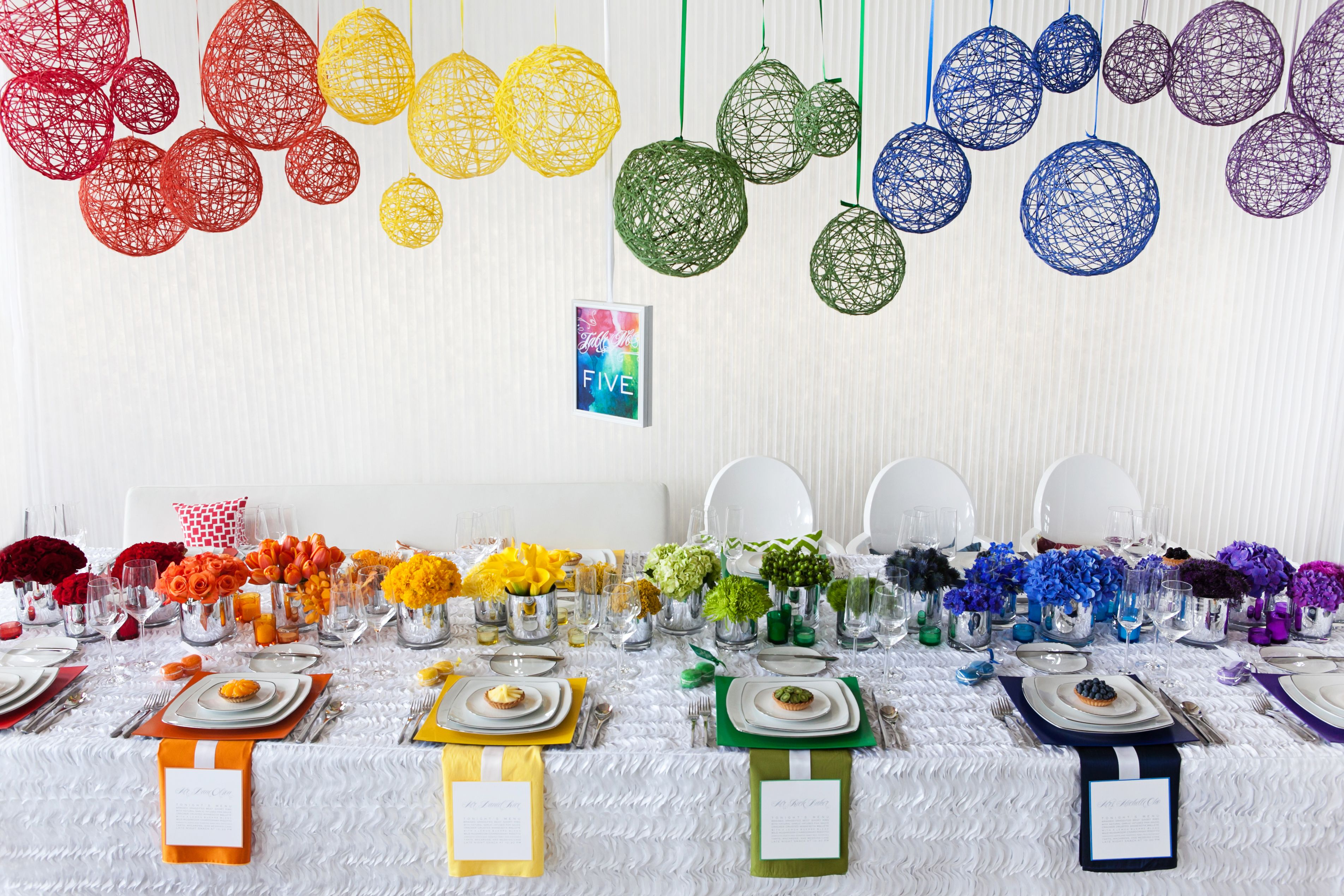 rainbow wedding decorations - Google Search | Wedding decorations ...