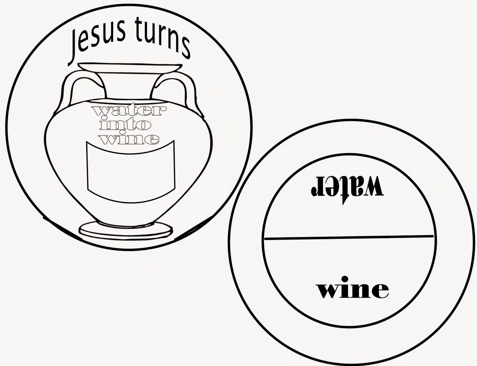 Sunday School Fun The First Miracle Turns Water Into Wine