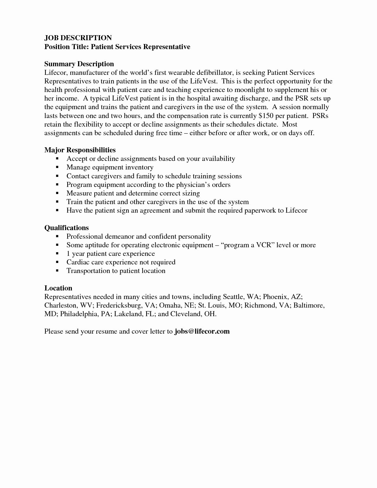 Financial Service Representative Resume New Patient Service Representative Resume Financial Objective