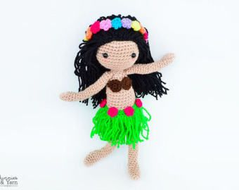 Amigurumis Muñecas : Crochet pattern in english mindy the mermaid doll amigurumi doll