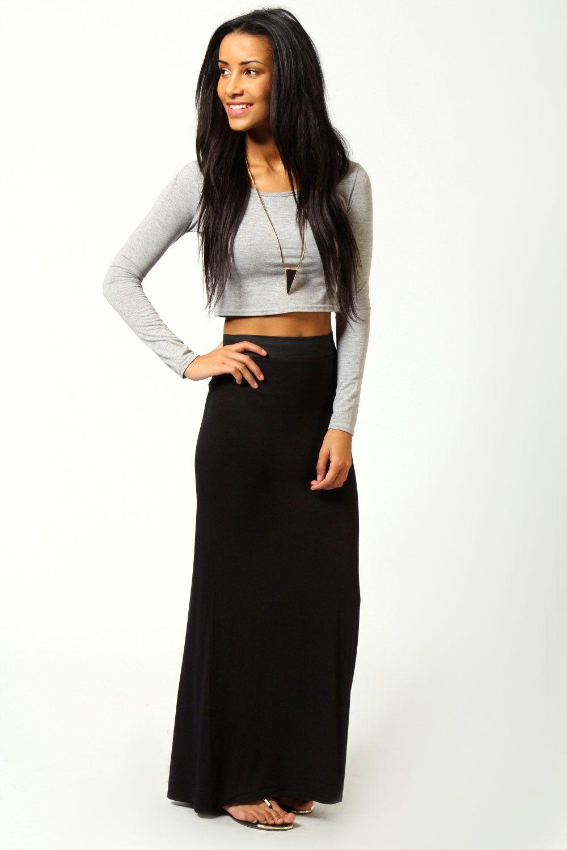 Maxi black dress skirt