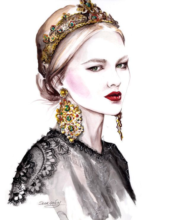 dolce gabbana automne 2013 fashion sketches fashion
