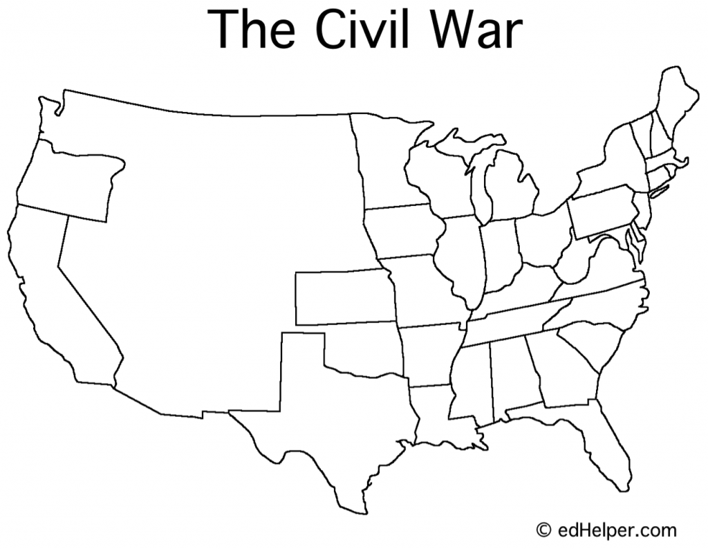 Blank Civil War Map   Civil war timeline [ 794 x 1024 Pixel ]