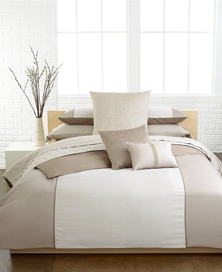 Calvin Klein Last Act Champagne Ribbon 12 X 16 Oblong Decorative Pillow Bedding King Duvet Cover Sets Bed Pillows Decorative Duvet Cover Sets