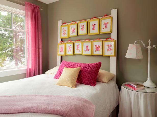 Comment fabriquer une t te de lit avec des cadres photos d coration - Fabriquer un cadre de lit ...