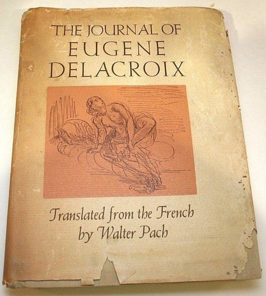 Eugene Delacroix Journal Walter Pach Covici Friede Color Art Illustrations 1937 #Delacroix #CoviciFriede #ArtBook