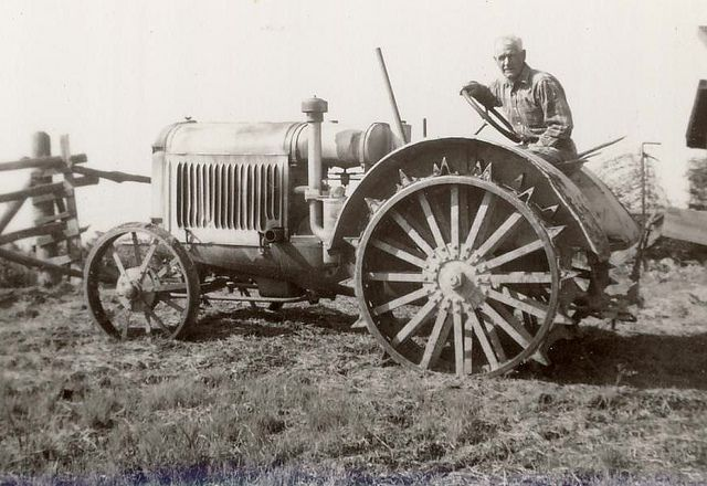 farm tractor big wheel, From the vintage collection of Bill Vrantzidis