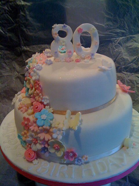 80th Birthday Cake By Monicoll Via Flickr