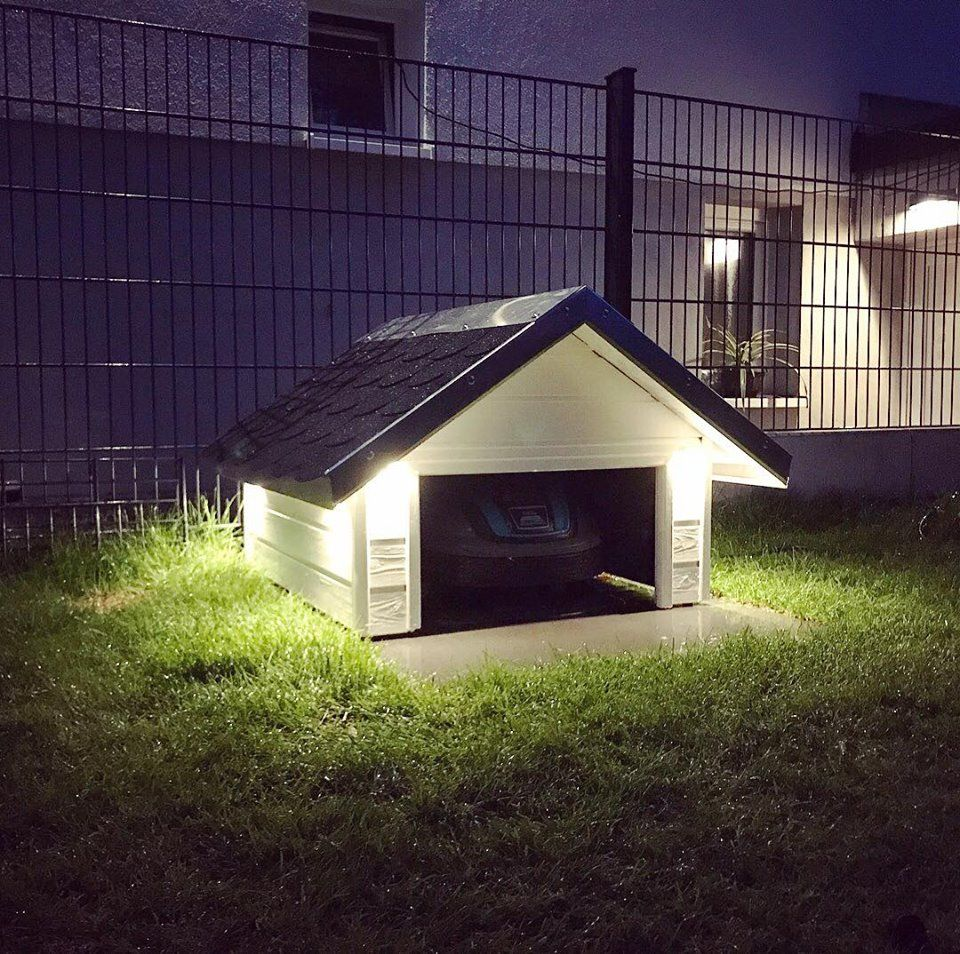Garage für den Automower 305 selbst bauen Rasenroboter