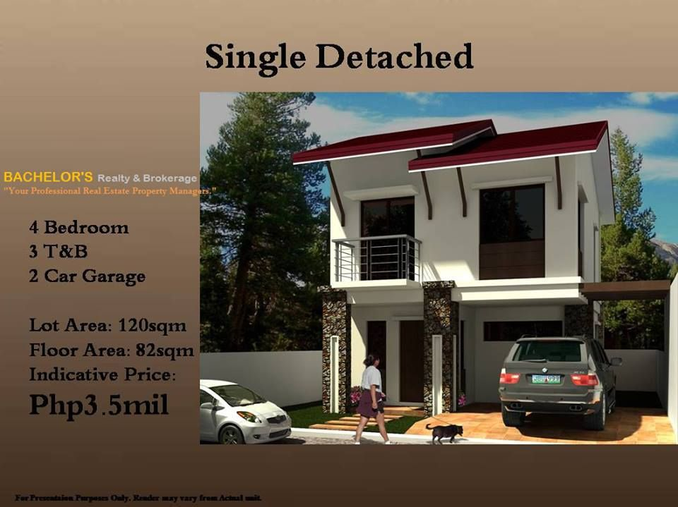 Single Detached Unit Lot Area 120sqm Floor Area 84 Sqm 2 Storey 4 Bedrooms 3 Toilet And Bath 2 Car Garage Php3 5m Only Two Storey House House Home