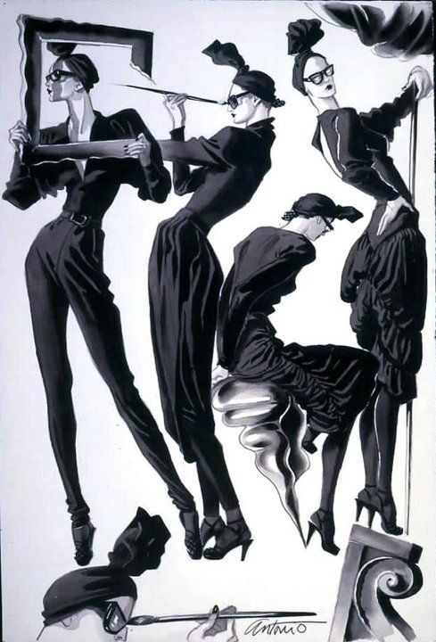 Ilustradores De Moda Parte 1 Figuras De La Moda Ilustracion De