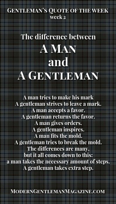 the difference between a man and a gentleman  gentleman
