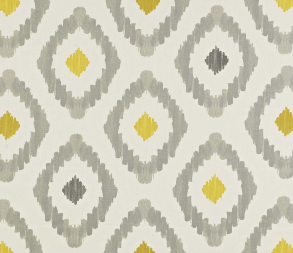 Yellow patterned curtains - Roman Blind Curtains Blackout Mira Saffron Grey Yellow White Retro Diamonds