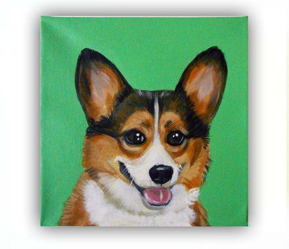 6x6x0.75 Custom Dog Portrait / Custom Pet by TheStardustStudio